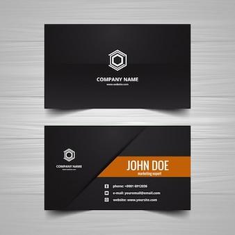 Черный визитная карточка