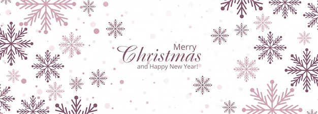 休日のクリスマスの装飾的な雪片のデザイン