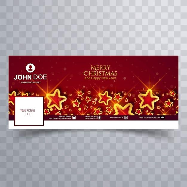 Элегантные рождественские звезды на красной обложке