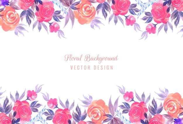 装飾的なカラフルな結婚式の花のフレームの背景