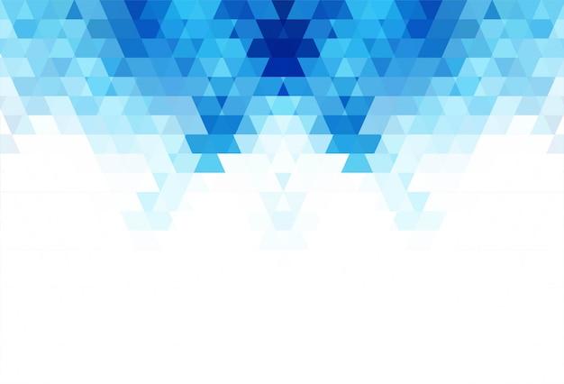 抽象的な青い幾何学的図形の背景イラスト
