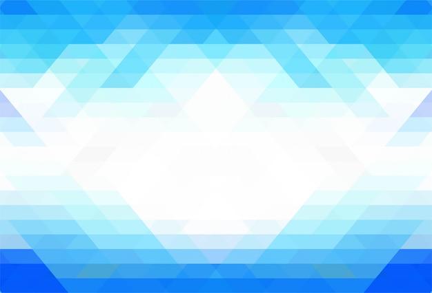 エレガントなブルーの幾何学図形の背景