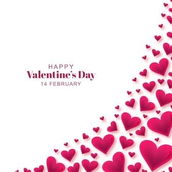 心で幸せなバレンタインの日グリーティングカード