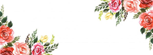 エレガントな花の創造的なバナーの背景