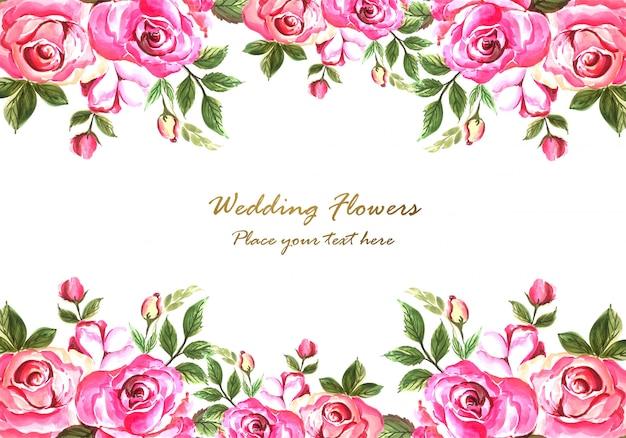 抽象的な装飾的なカラフルな花カードテンプレート