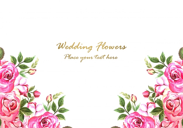 Свадебные приглашения декоративные цветы дизайн карты