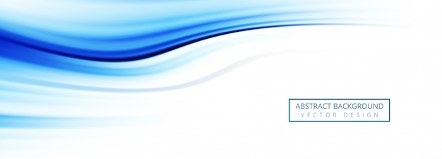 抽象的な青い波のバナーの背景