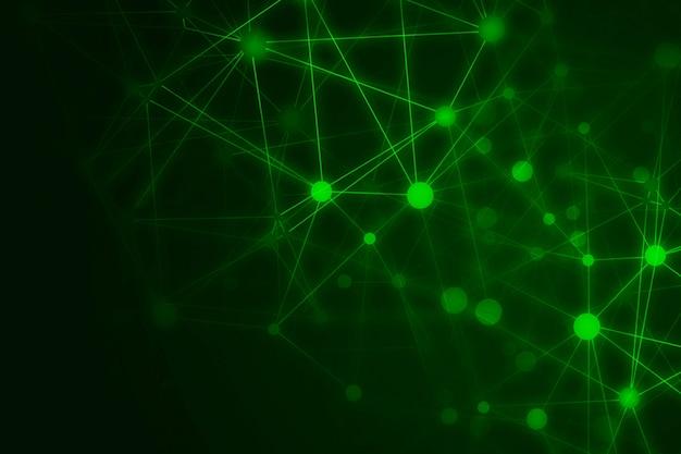 抽象的なテクノロジーの緑の背景