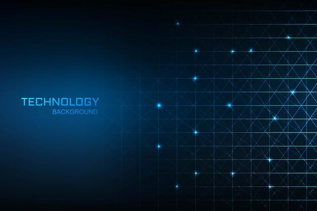 Технология цифровой концепции синий фон