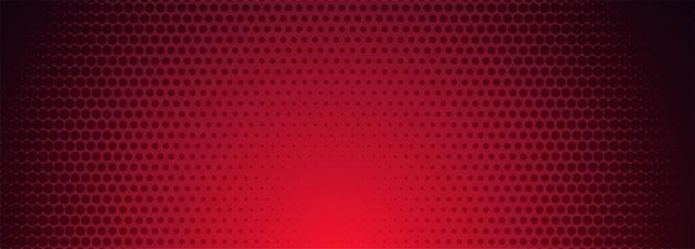 赤と黒のハーフトーンパターンバナーの背景