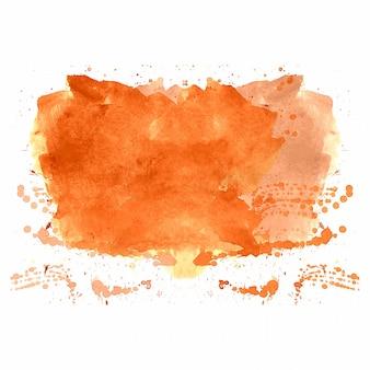 手描きのオレンジ色のスプラッシュ水彩背景