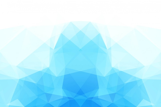 青白の多角形のモザイクの背景