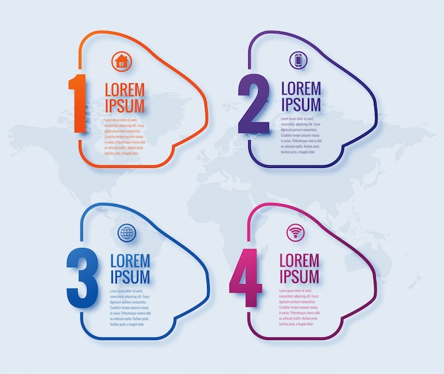 Современный бизнес инфографики дизайн баннера