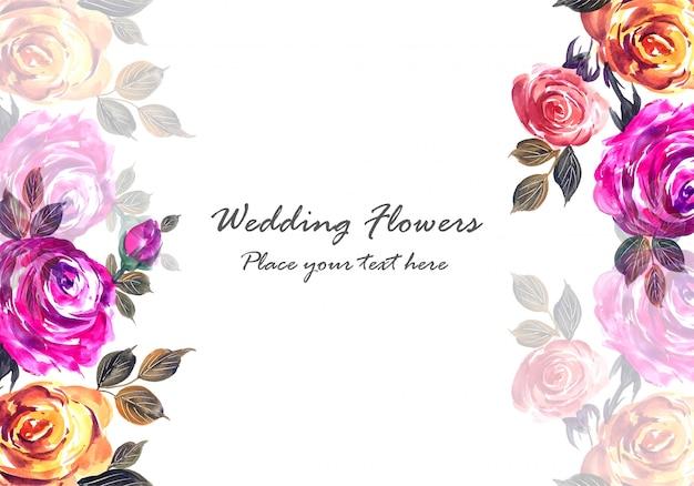 Романтическая свадьба красивые цветы шаблон карты