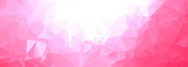 抽象的な幾何学的な多角形のバナー