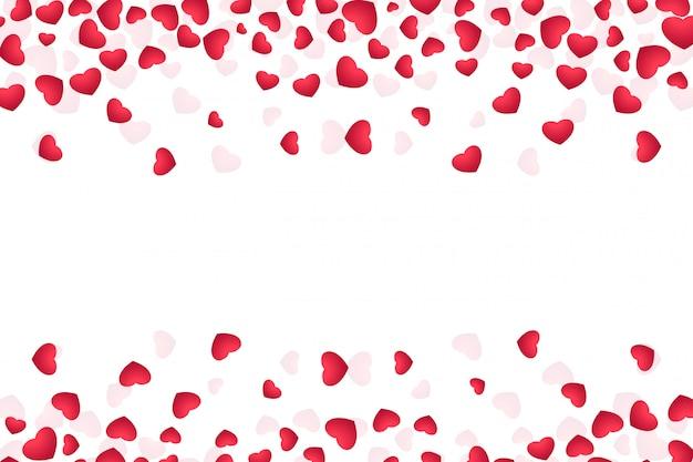 バレンタインの日グリーティングカードのイラスト