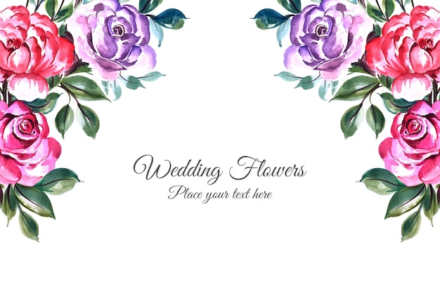 Свадебные декоративные цветы кадр фон