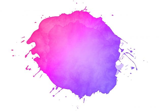 カラフルな抽象的な水彩染色
