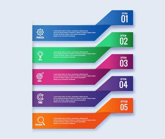 インフォグラフィックの手順概念創造的なバナーデザイン
