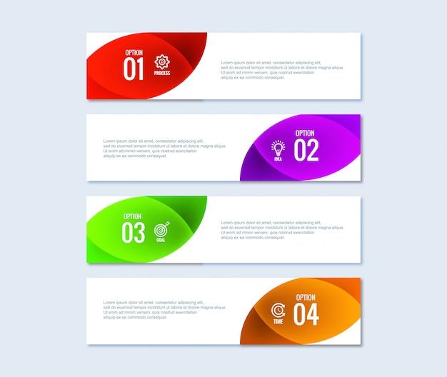 Бизнес инфографики набор шагов дизайна