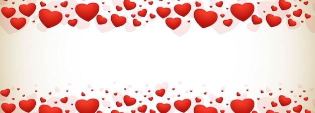 幸せなバレンタインデーの装飾的な心の背景