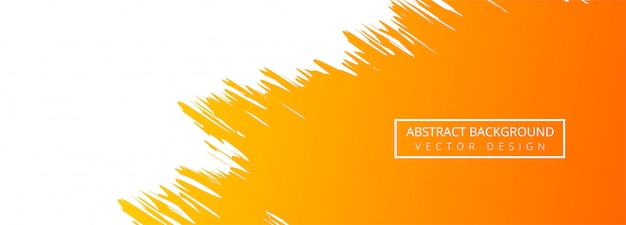Абстрактный оранжевый фон акварель баннер