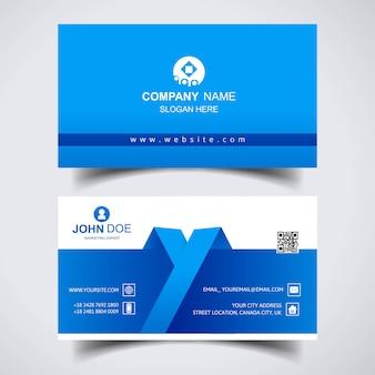 Современный креативный дизайн шаблона визитной карточки