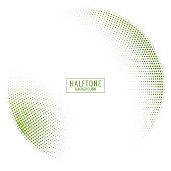 緑と白の抽象的なハーフトーンの背景