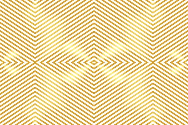 抽象的な黄金の幾何学模様の背景