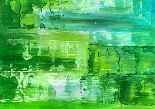 美しい水彩画の緑のテクスチャ