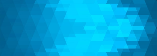 抽象的なブルーの幾何学的なバナーの背景