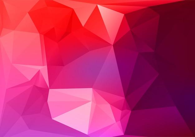 抽象的なカラフルな低ポリ三角形形状の背景