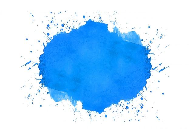 Абстрактный синий всплеск акварель дизайн