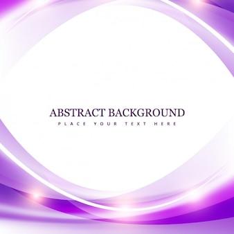 光沢のある波と紫の抽象的な背景