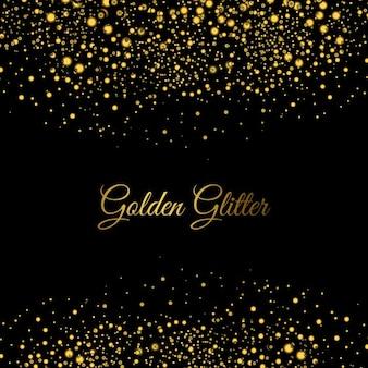 Золотой фон блестит