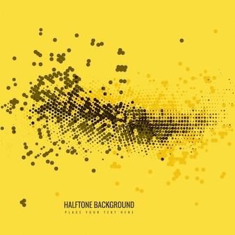 黄色ハーフトーン背景