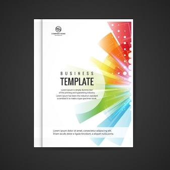 Красочный бизнес брошюра