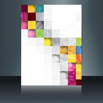 カラフルなモザイクパンフレット