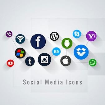 ソーシャルメディアのアイコンの背景