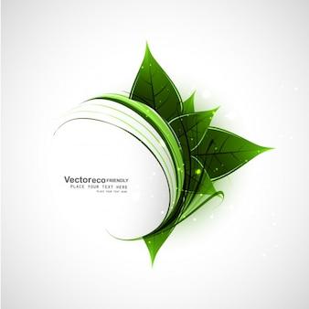 葉と抽象的な自然の背景