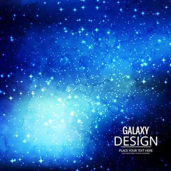 銀河についてのブルーの背景