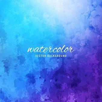 水彩画、青と紫