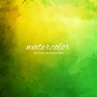 緑と黄色の水彩画、テクスチャ