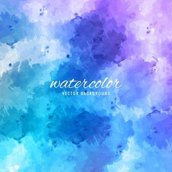 青色の水彩画の背景にスケッチ曼荼羅