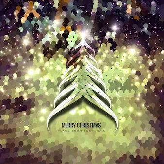 クリスマスツリーのスパンコールの背景