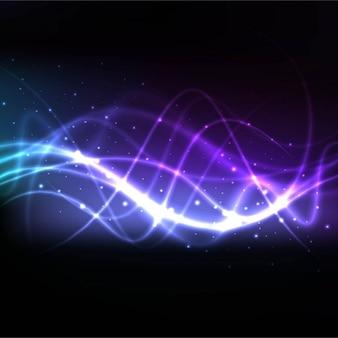波状ライトが付いている現代の背景