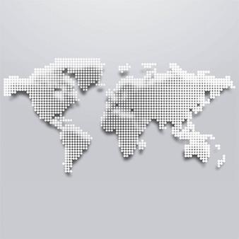 Пунктирные карта мира фоне