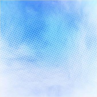 現代の青の水彩画の背景