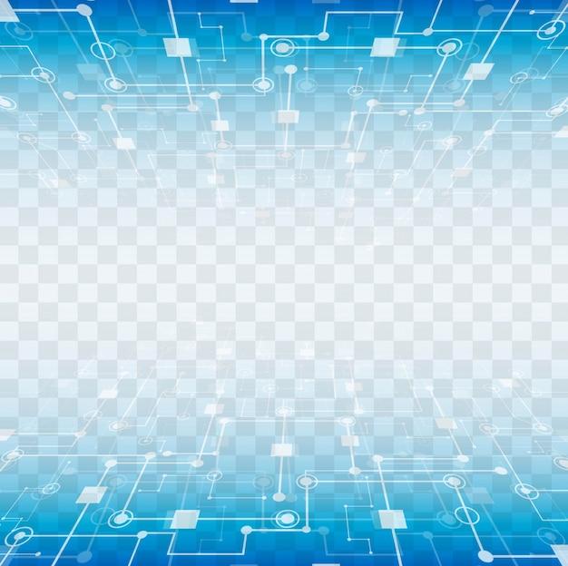 Современные технологические элементы с прозрачным фоном