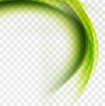Современные зеленый фон волна